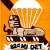 82nd Airborne Division Military Intelligence Detachment Patch   Center Detail