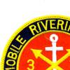 3rd Battalion 34th Field Artillery Patch Mobile Riverine Force Mekong Delta | Upper Left Quadrant