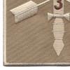 3rd Battalion 20th Special Forces Group Combat Helmet Desert Patch | Lower Left Quadrant
