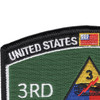 3rd Armored Division Hat Patch Spearhead | Upper Left Quadrant