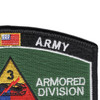 3rd Armored Division Hat Patch Spearhead | Upper Right Quadrant