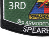 3rd Armored Division Hat Patch Spearhead | Lower Left Quadrant
