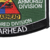 3rd Armored Division Hat Patch Spearhead | Lower Right Quadrant