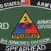 3rd Armored Division Hat Patch Spearhead | Center Detail