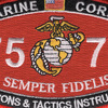 7577 Weapons & Tactics Instructor MOS Patch | Center Detail
