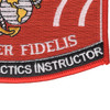 7577 Weapons & Tactics Instructor MOS Patch | Lower Right Quadrant