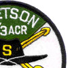 4th Battalion 3rd Aviation Cavalry Regiment S Troop Patch - Green and White | Upper Right Quadrant