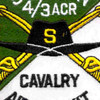 4th Battalion 3rd Aviation Cavalry Regiment S Troop Patch - Green and White | Center Detail