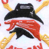 4th Battalion 3rd Aviation Cavalry Regiment Patch Outlaw   Center Detail