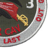 4th Battalion 3rd Aviation Cavalry Regiment Patch Hook And Loop | Lower Right Quadrant