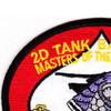 2nd Tank Battalion USMC Patch | Upper Left Quadrant