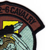 2nd Squadron 6th Aviation Air Cavalry Regiment Bravo Troop Patch OD | Upper Right Quadrant