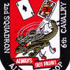 2nd Squadron 6th Aviation Air Cavalry Regiment A Troop Patch | Center Detail