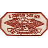 2nd Squadron 25th Aviation Regiment E Company Patch