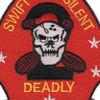 2nd Reconnaissance Battalion Patch Swift Silent Deadly | Center Detail
