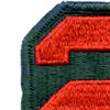 2nd Army Patch | Upper Left Quadrant