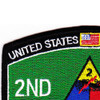 2nd Armored Division Military Occupational Specialty MOS Patch | Upper Left Quadrant