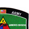 2nd Armored Division Military Occupational Specialty MOS Patch | Upper Right Quadrant