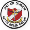 2nd Air Division 467th Bomb Group Patch