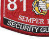 8156 Security Guard MSG MOS Patch | Lower Left Quadrant