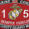 8156 Security Guard MSG MOS Patch | Center Detail