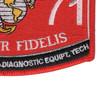 2871 Test Measurement & Diagnostic Equipment Technician MOS Patch | Lower Right Quadrant