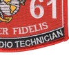 2861 Ground Radio Technician MOS Patch | Lower Right Quadrant