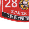2818 Teletype Technician MOS Patch | Lower Left Quadrant