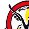 27th Fighter Interceptor Squadron Patch Falcons | Upper Left Quadrant