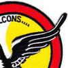 27th Fighter Interceptor Squadron Patch Falcons | Upper Right Quadrant