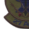 27th Aircraft Generation Squadron Subdued Patch | Lower Left Quadrant