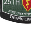 25th Infantry Division Military Occupational Specialty MOS Patch Tropic Lightning | Lower Left Quadrant