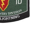 25th Infantry Division Military Occupational Specialty MOS Patch Tropic Lightning | Lower Right Quadrant