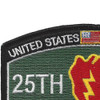 25th Infantry Division Military Occupational Specialty MOS Patch Tropic Lightning | Upper Left Quadrant