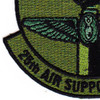 25th Air Support Operations Squadron Patch OD Green | Lower Left Quadrant