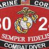 8024 Combat Diver MOS Patch   Center Detail