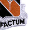 40th Signal Battalion Patch Bene Factum Vietnam | Lower Right Quadrant