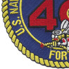 40th Mobile Construction Battalion Patch Fighting 40 | Lower Left Quadrant