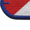 40th Cavalry Regiment 1st Squadron Oval Patch | Lower Left Quadrant