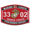 3302 Food Service Officer MOS Patch