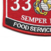 3302 Food Service Officer MOS Patch | Lower Left Quadrant