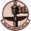 25th Air Support Operations Squadron Desert Patch Hook And Loop