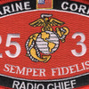 2537 Radio Chief MOS Patch | Center Detail