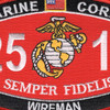 2511 Wireman MOS Patch | Center Detail