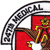 247th Aviation Medical Detachment Air Ambulance Patch | Upper Left Quadrant