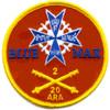 20th Regiment 2nd Battalion Ariel Rocket Artillery Patch