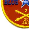 20th Regiment 2nd Battalion Ariel Rocket Artillery Patch | Lower Left Quadrant