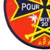20th Regiment 2nd Battalion Aerial Field Artillery Patch | Lower Left Quadrant