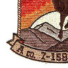 7th Squadron 158th Avaition Regiment A Company Patch | Lower Left Quadrant