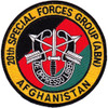 20th Airborne Special Forces Group Afghanistan Patch